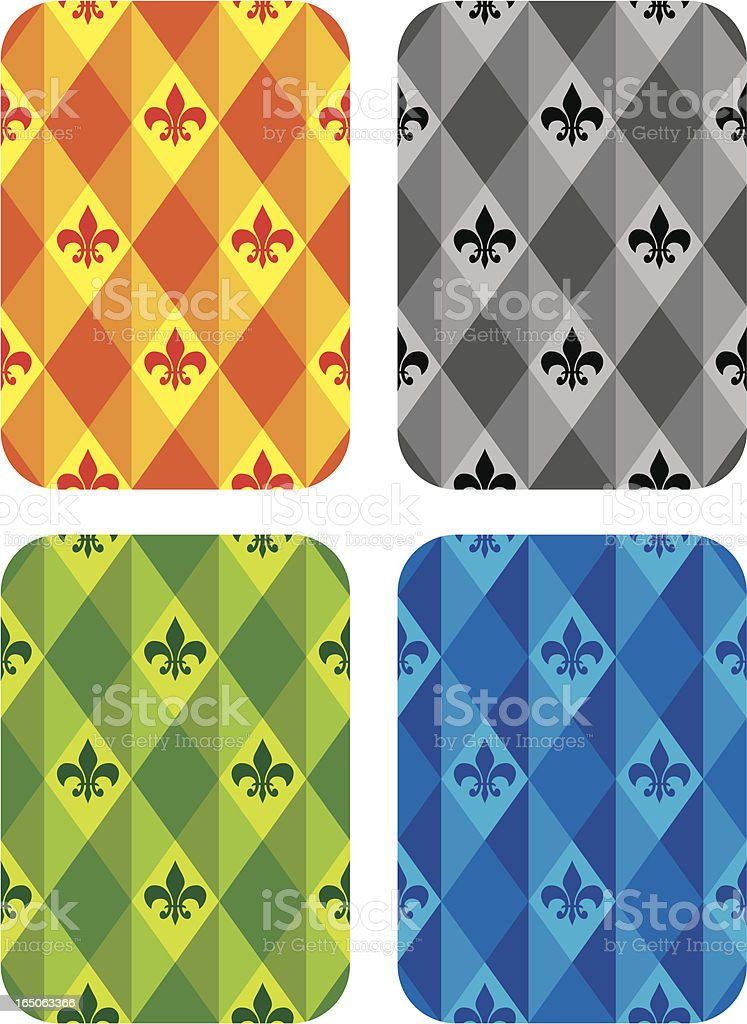Back of  the Poker Cards designs royalty-free stock vector art