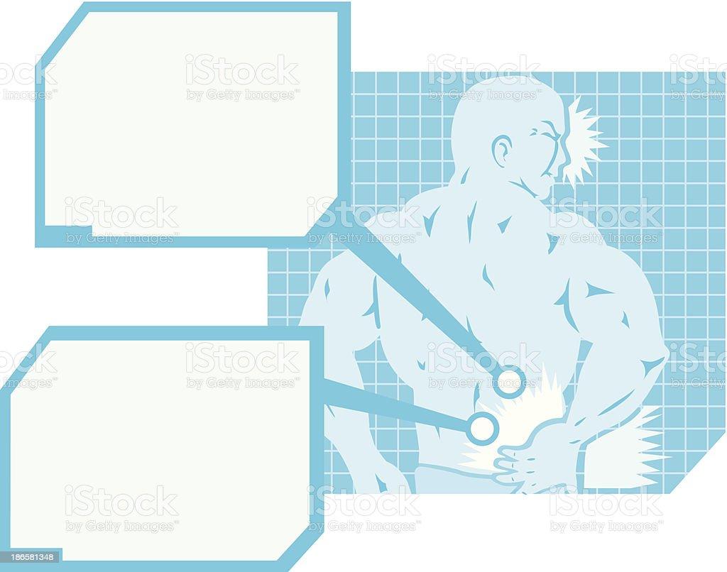 Back Pain Diagram royalty-free stock vector art