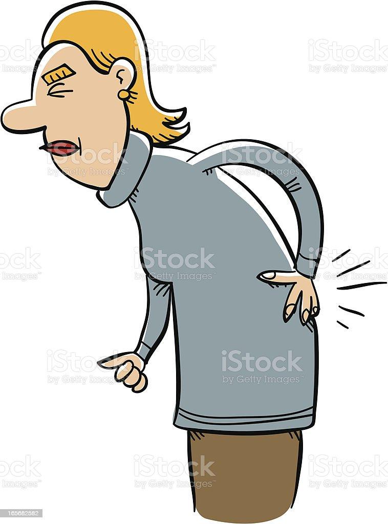 Back Pain Woman royalty-free stock vector art