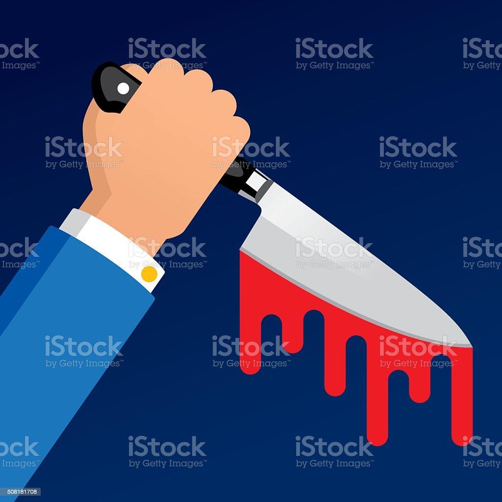 Back Stabbing vector art illustration
