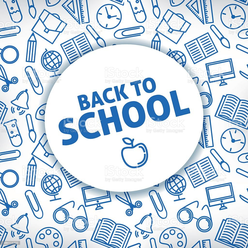 Back to school. A white background. Icon school supplies. Vector vector art illustration