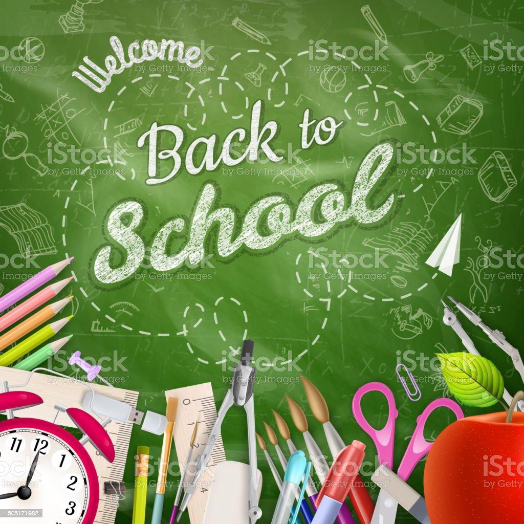 Back to school background. EPS 10 vector art illustration