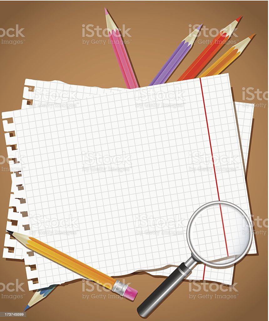 Back to school background or card royalty-free stock vector art