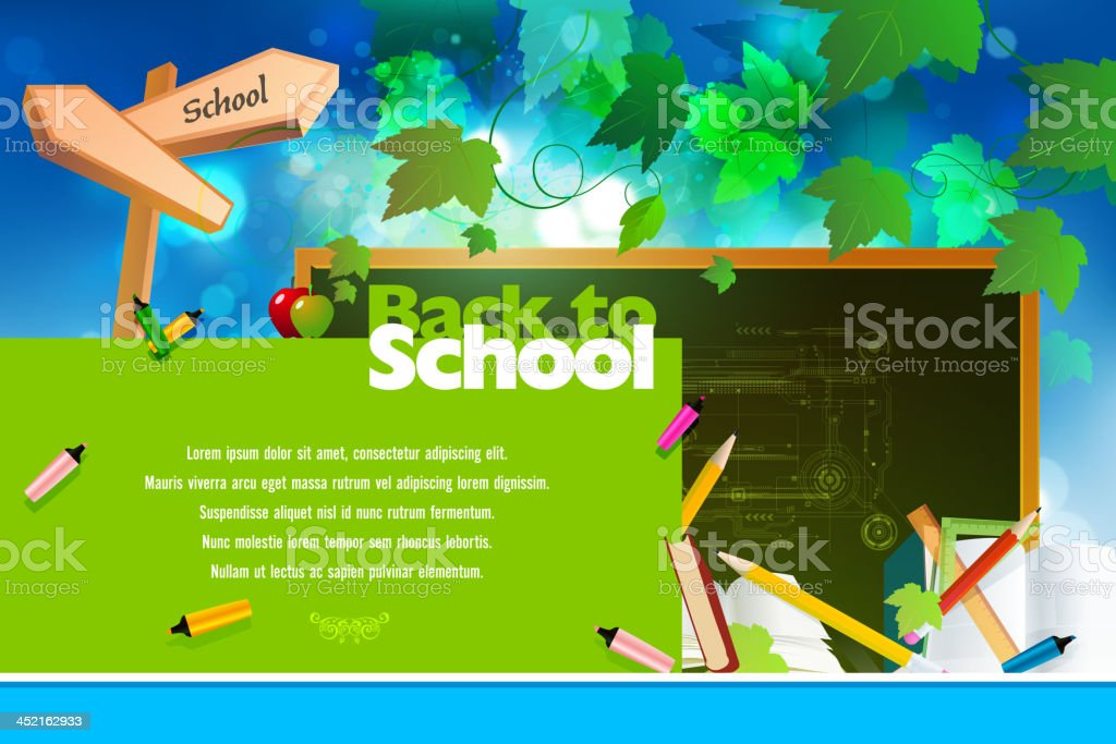 Back to School Background royalty-free stock vector art