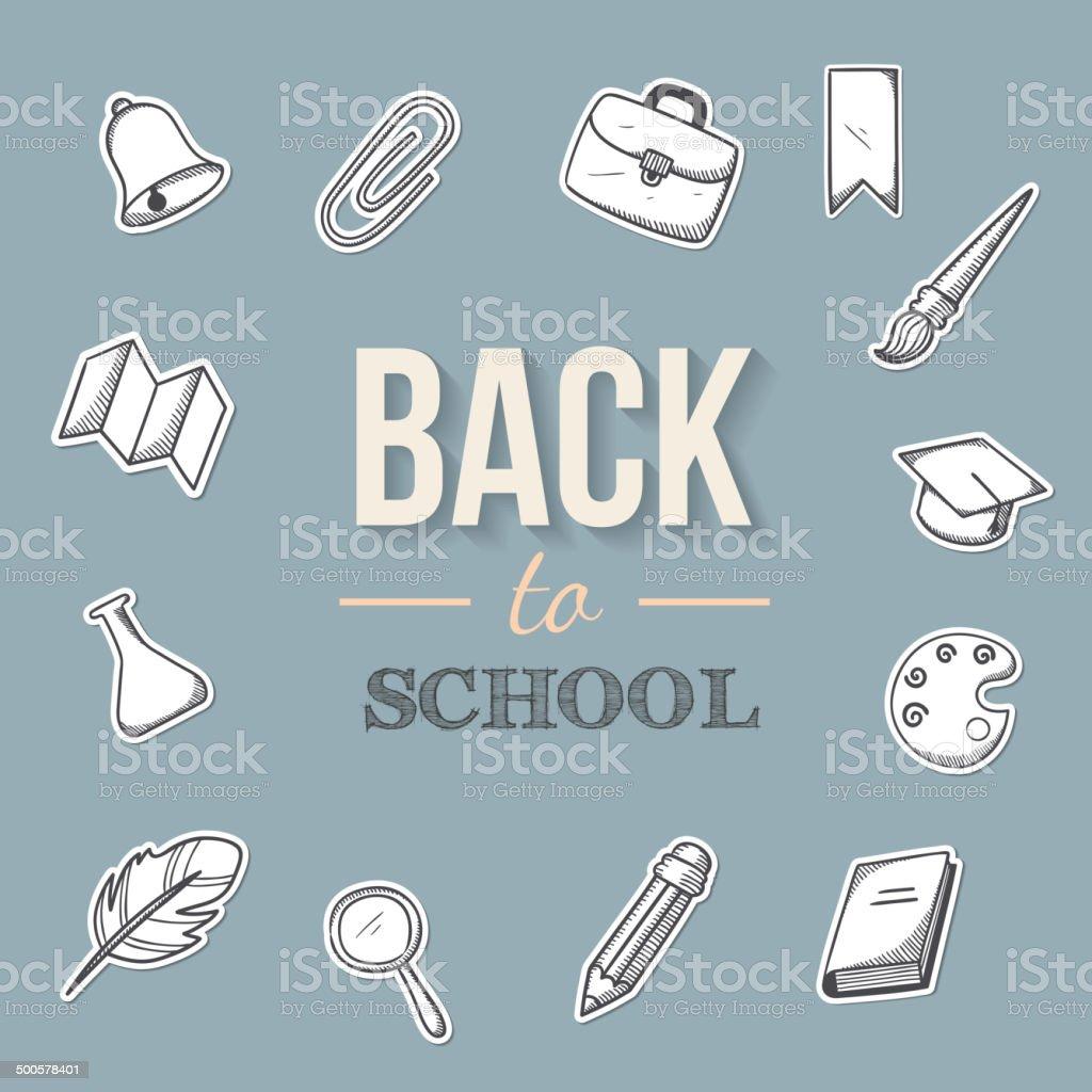 Back to school background. vector art illustration