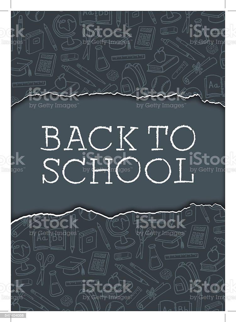 Back to school background vector art illustration