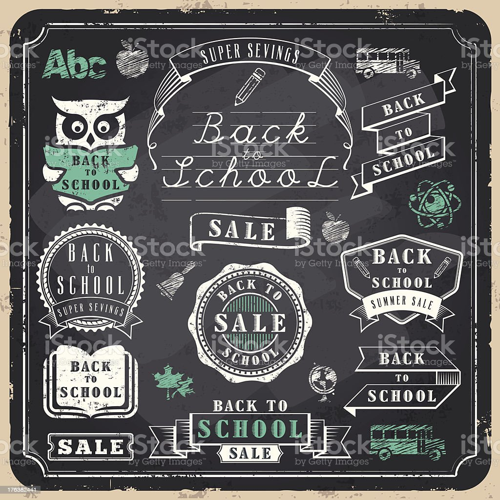Back to School Badges royalty-free stock vector art