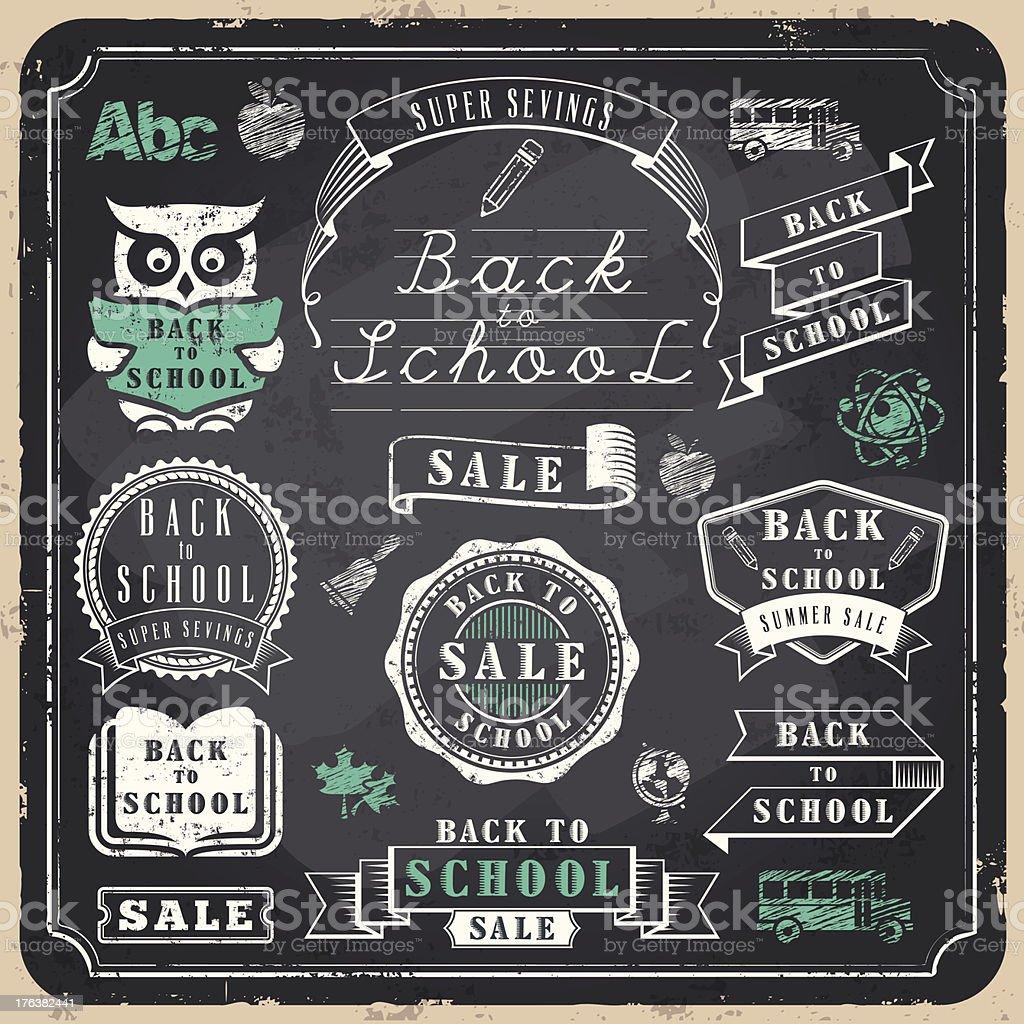 Back to School Badges vector art illustration
