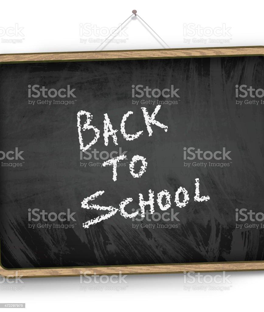 Back to School blackboard royalty-free stock vector art