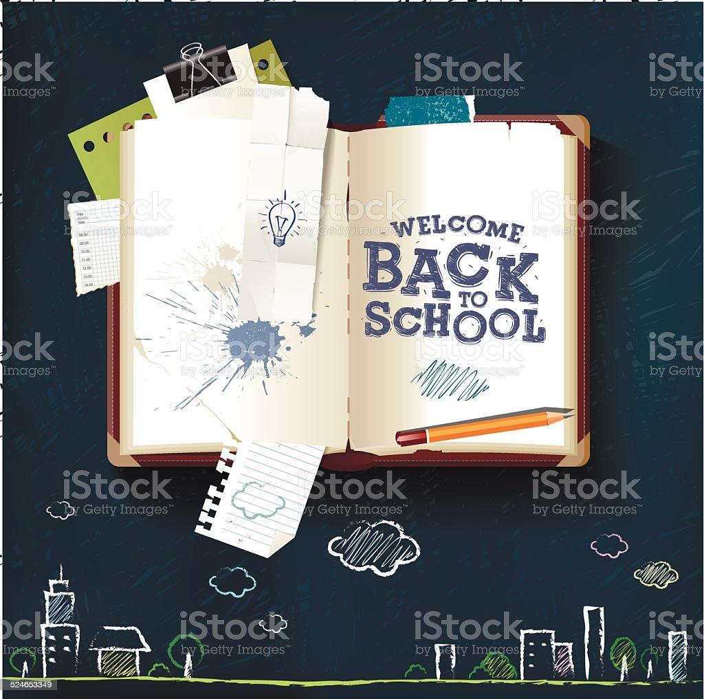 Back to School book vector art illustration