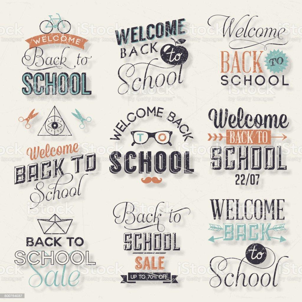 Back to School Calligraphic Design vector art illustration
