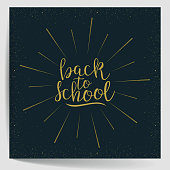 Back To School. Calligraphic Quote. Vector illustration
