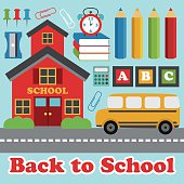 back to school card designŒ