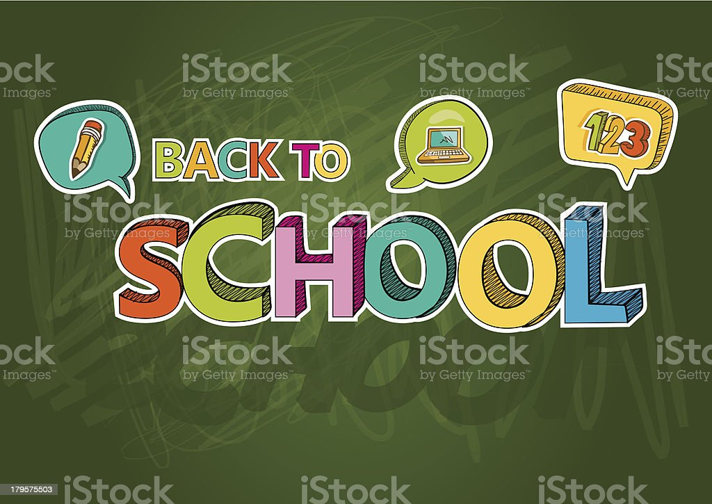 Back to school chalkboard composition. royalty-free stock vector art