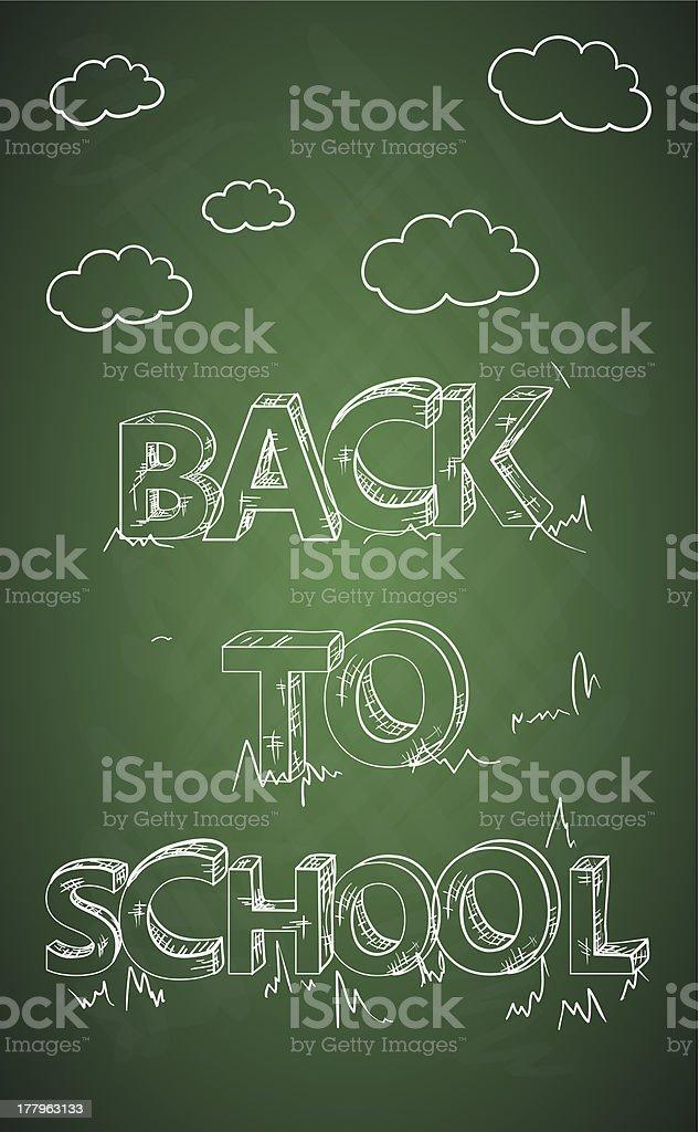Back to school chalkboard royalty-free stock vector art