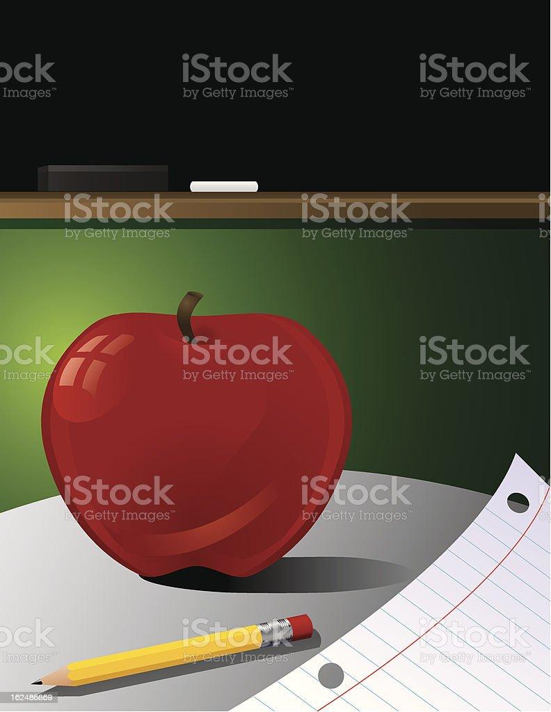 Back to School Classroom royalty-free stock vector art