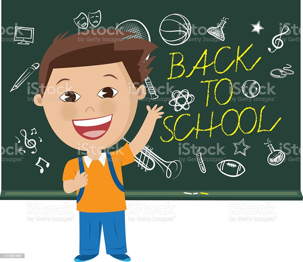 Back to School Concept Illustration royalty-free stock vector art
