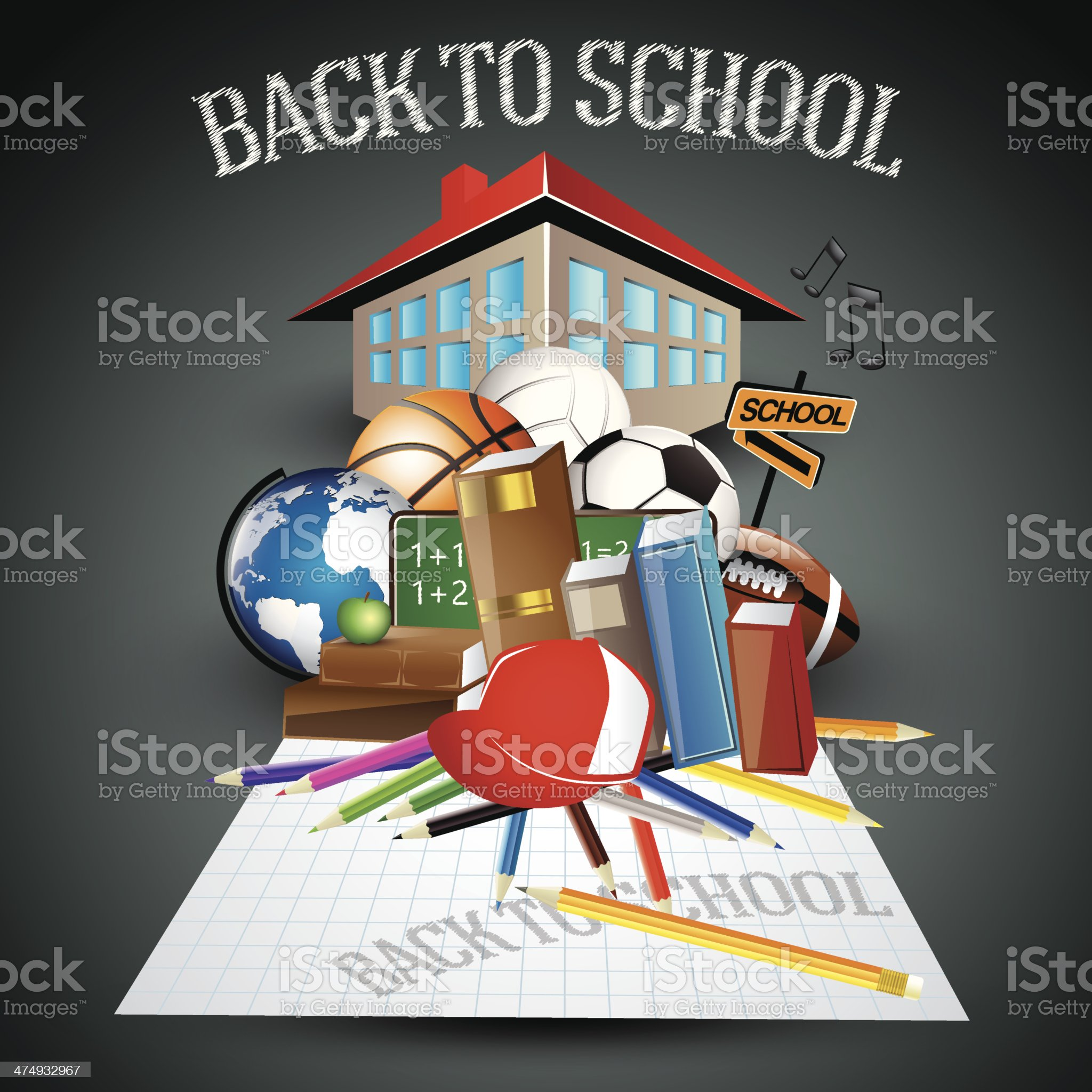 Back to school concept royalty-free stock vector art