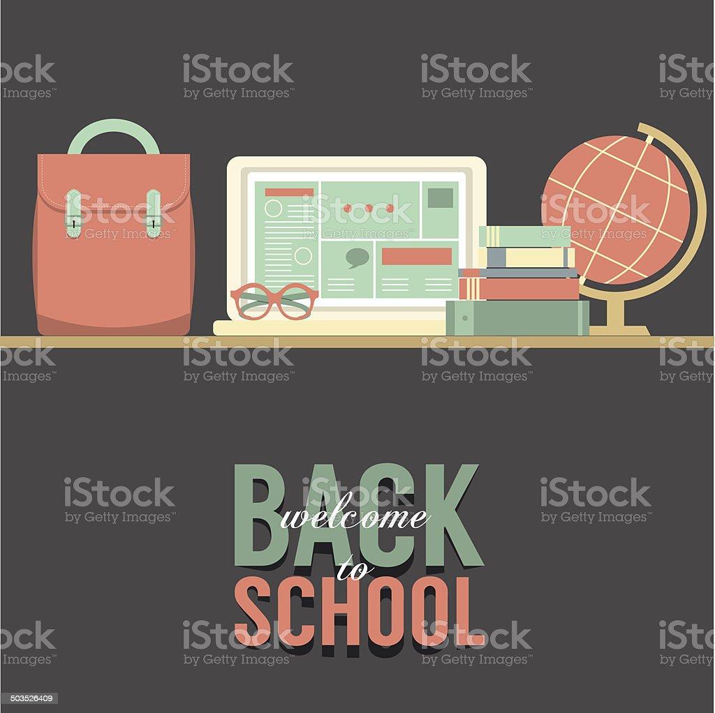 Back to School Concept Vector Illustration vector art illustration