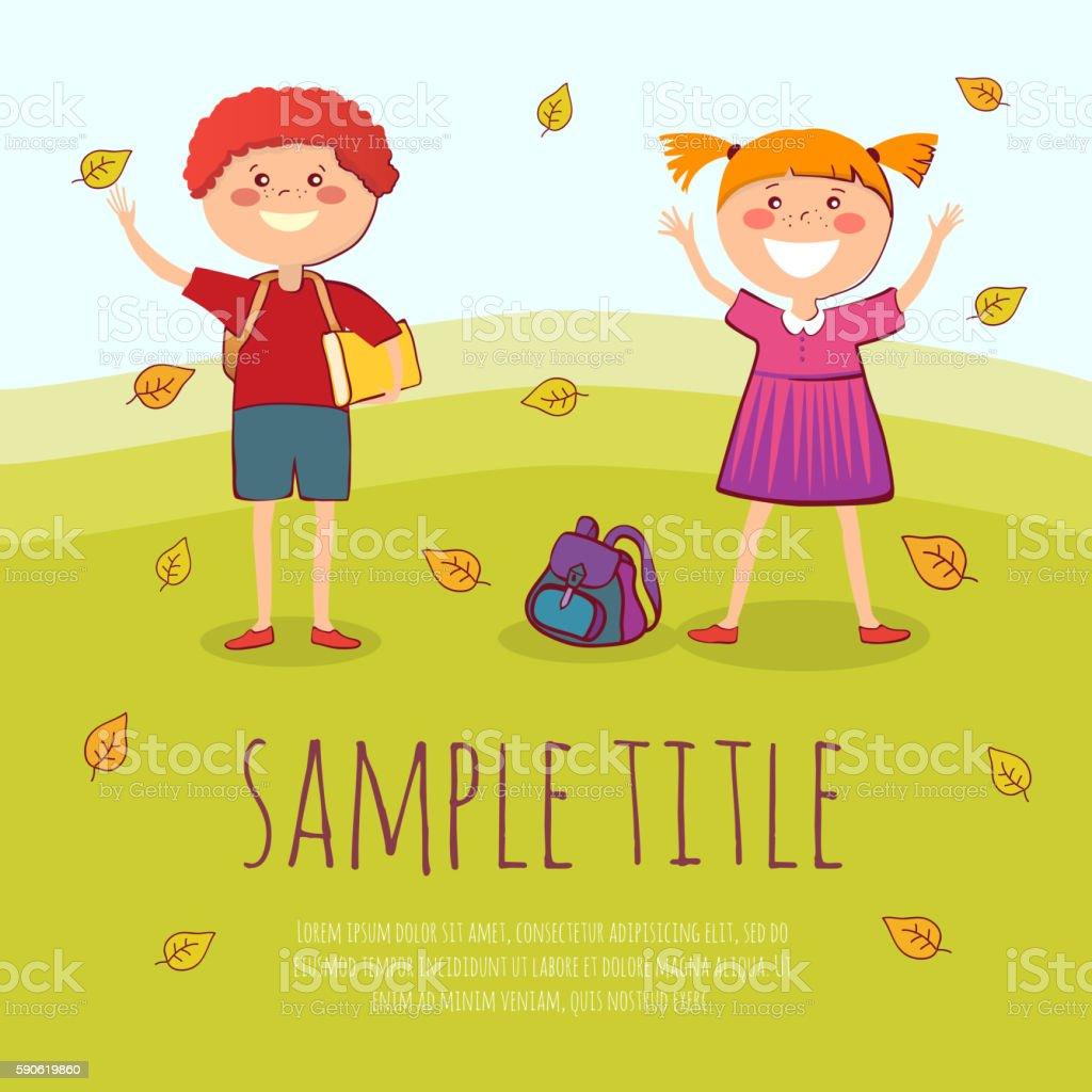 Back to school conept vector illustration vector art illustration
