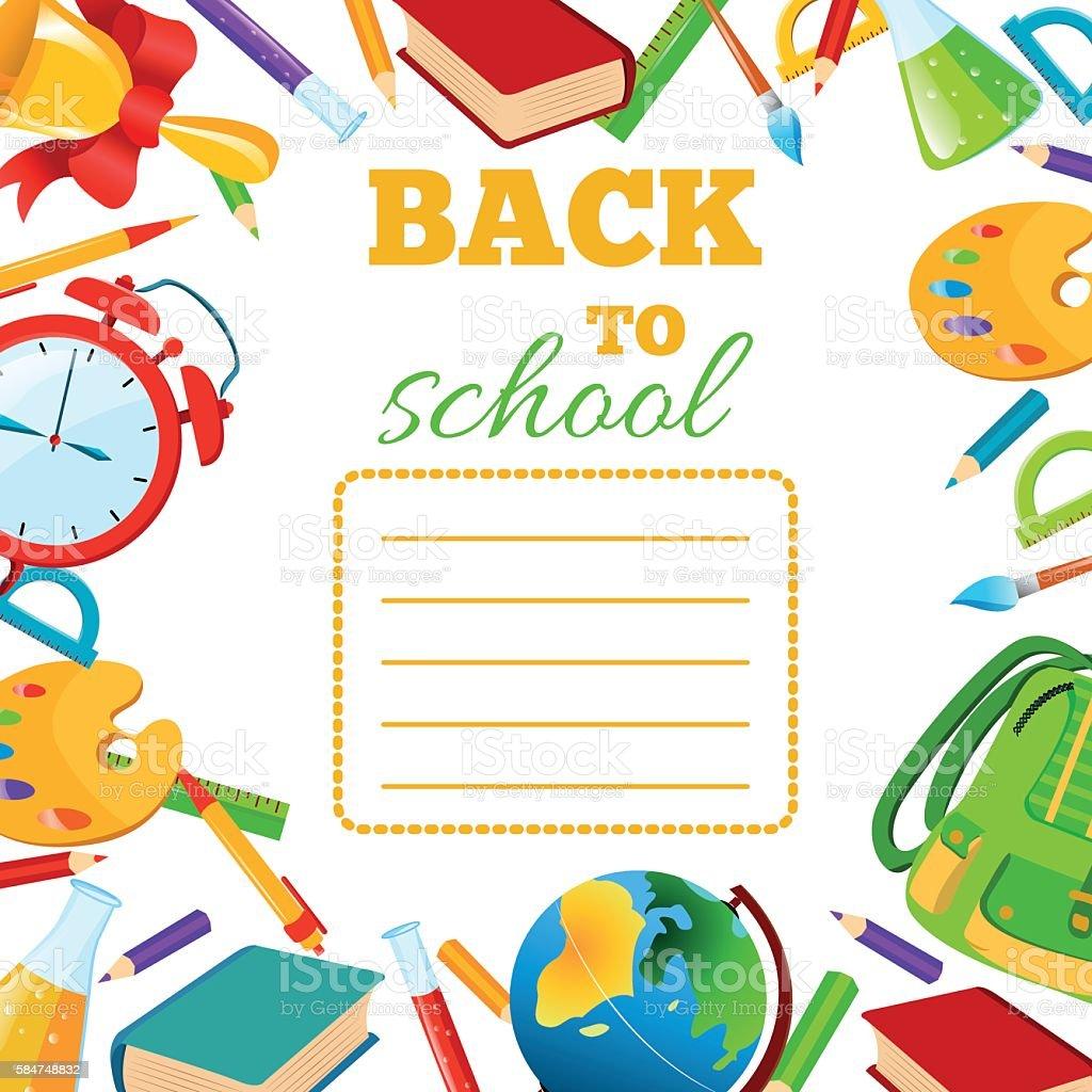 Back To School cover for children exercise book. stock vecteur libres de droits libre de droits