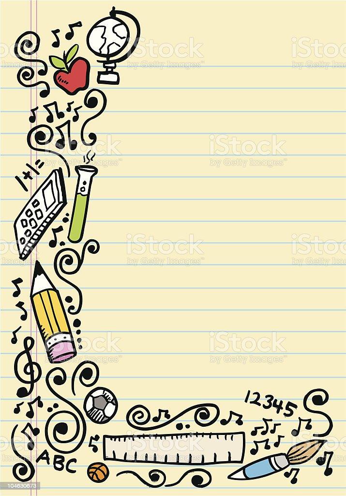 Back to School Doodle Sketch royalty-free stock vector art