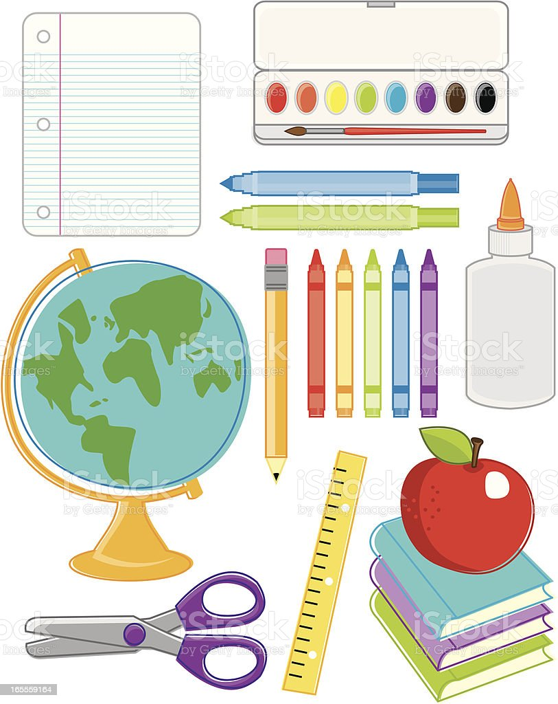 Back to School Essentials royalty-free stock vector art