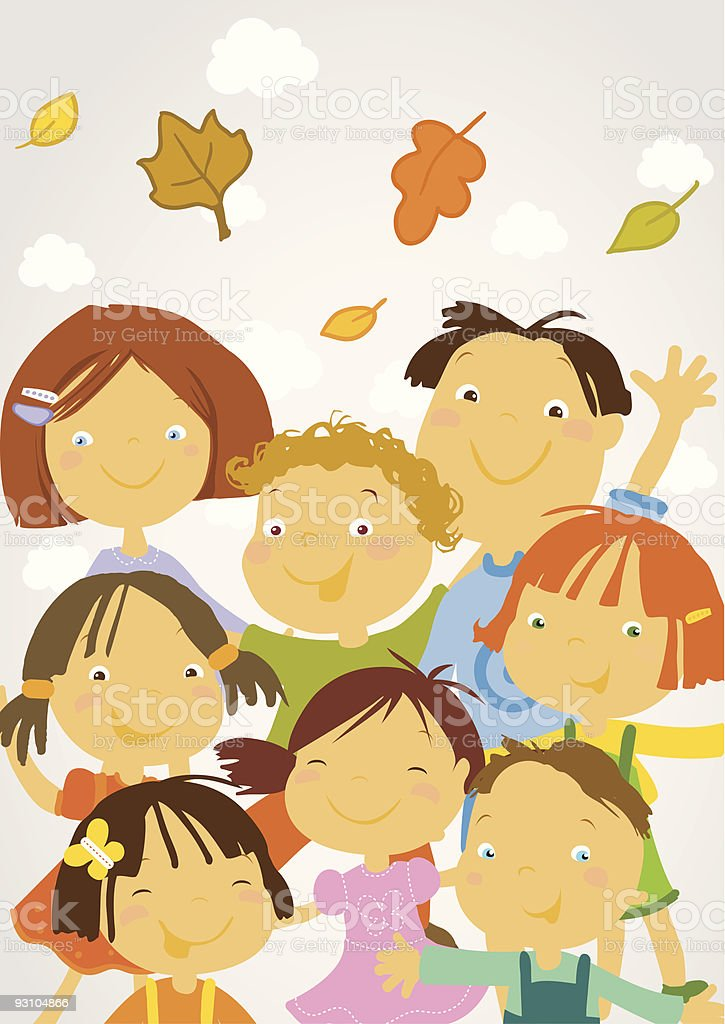 back to school - happy children royalty-free stock vector art