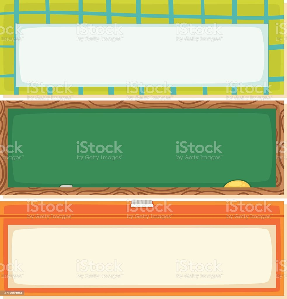 Back to school horizontal banners royalty-free stock vector art