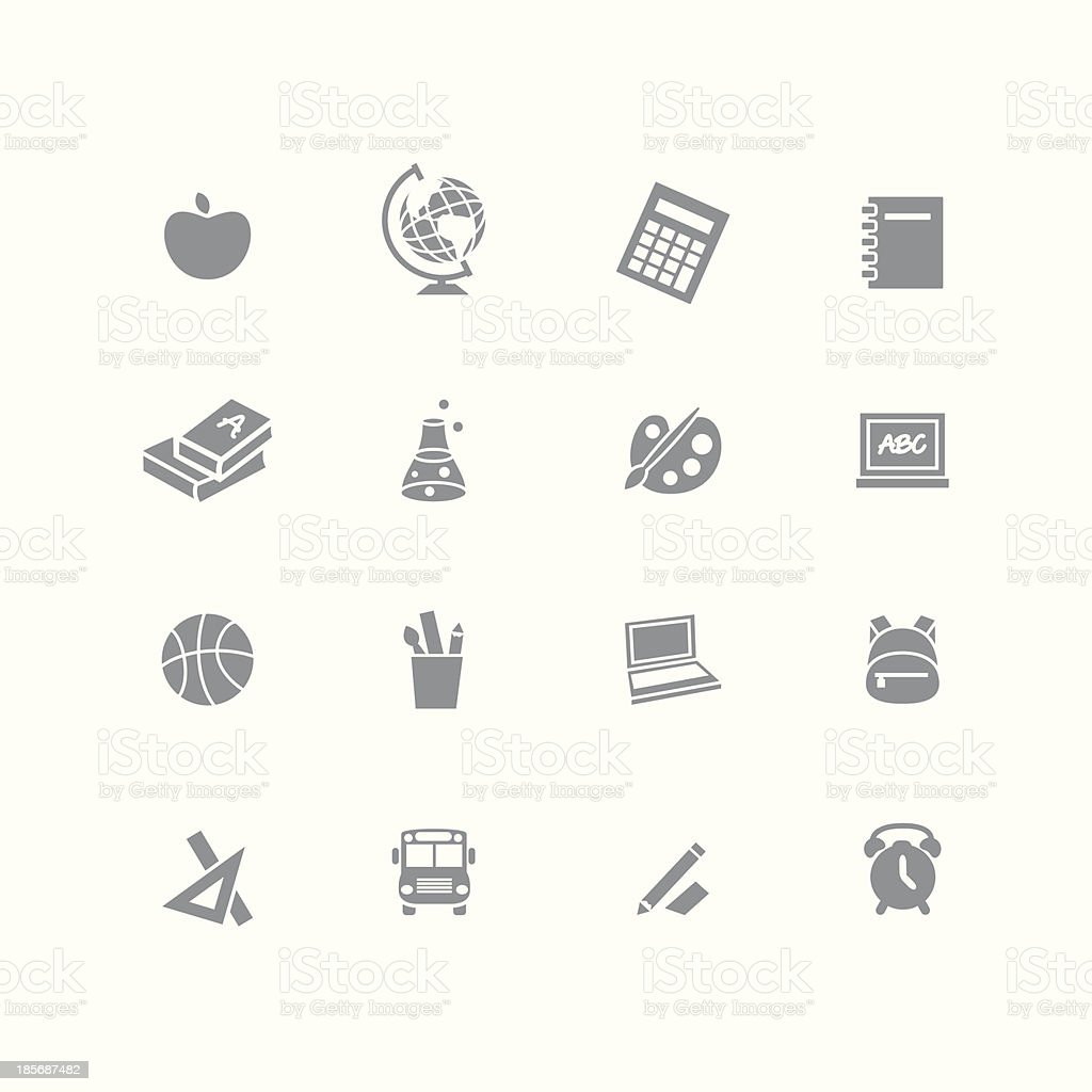 Back to school - icon set royalty-free stock vector art