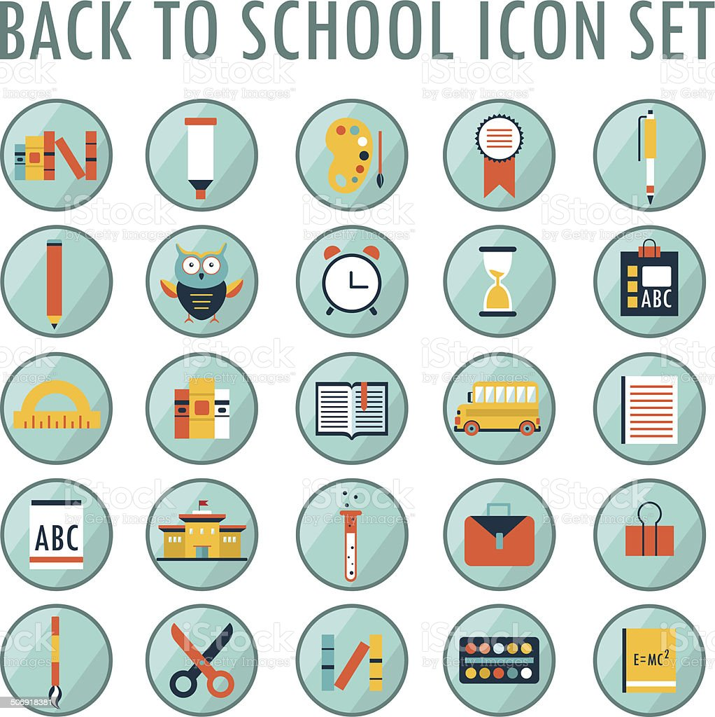 Back to school icon set.Part 2 royalty-free stock vector art