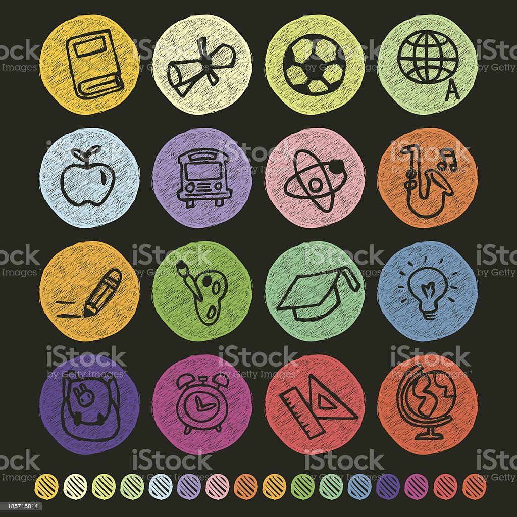 Back to School Icon royalty-free stock vector art