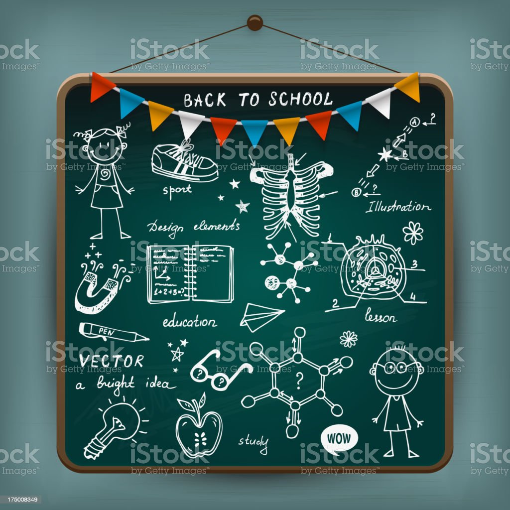 Back To School illustration royalty-free stock vector art