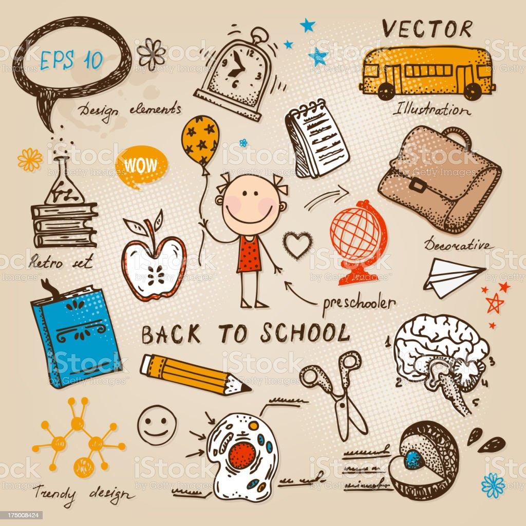 Back To School illustration royalty-free stock vector art