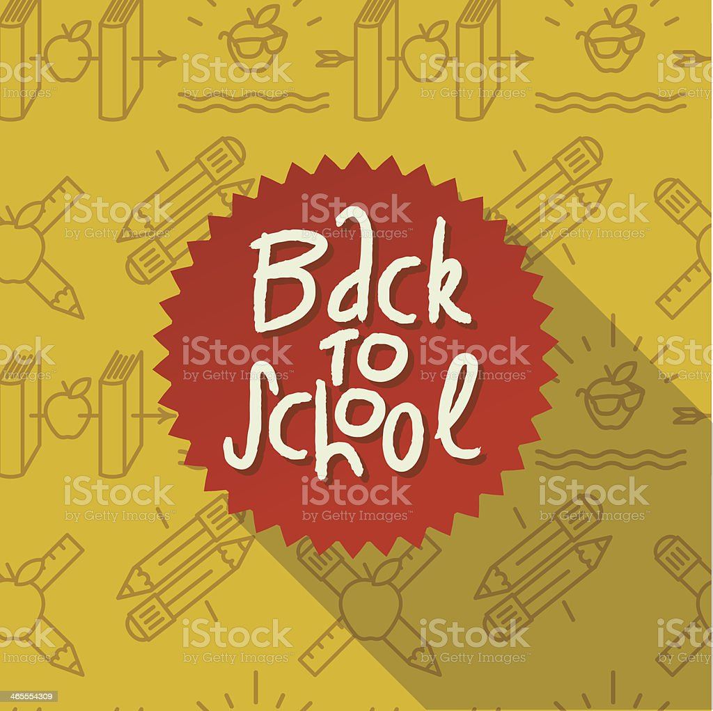 Back to school label for parents to shop for supplies royalty-free stock vector art