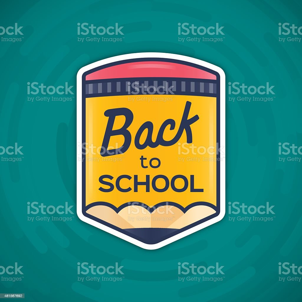 Back to School Message vector art illustration