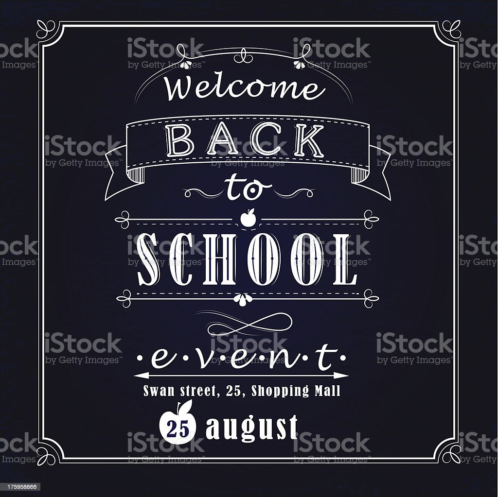 Back to school promotional banner royalty-free stock vector art
