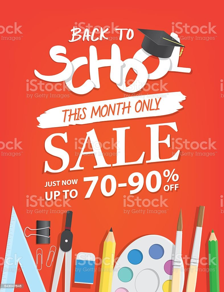 Poster design word - Back To School Sale Heading Design For Banner Or Poster Royalty Free Stock Vector