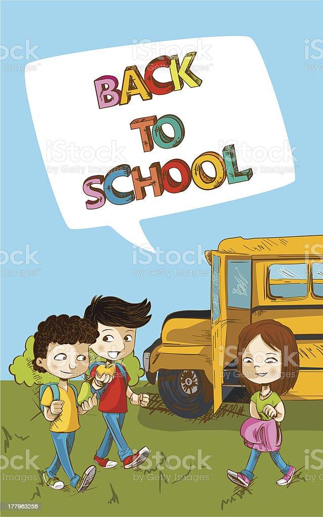 Back to School social media children royalty-free stock vector art