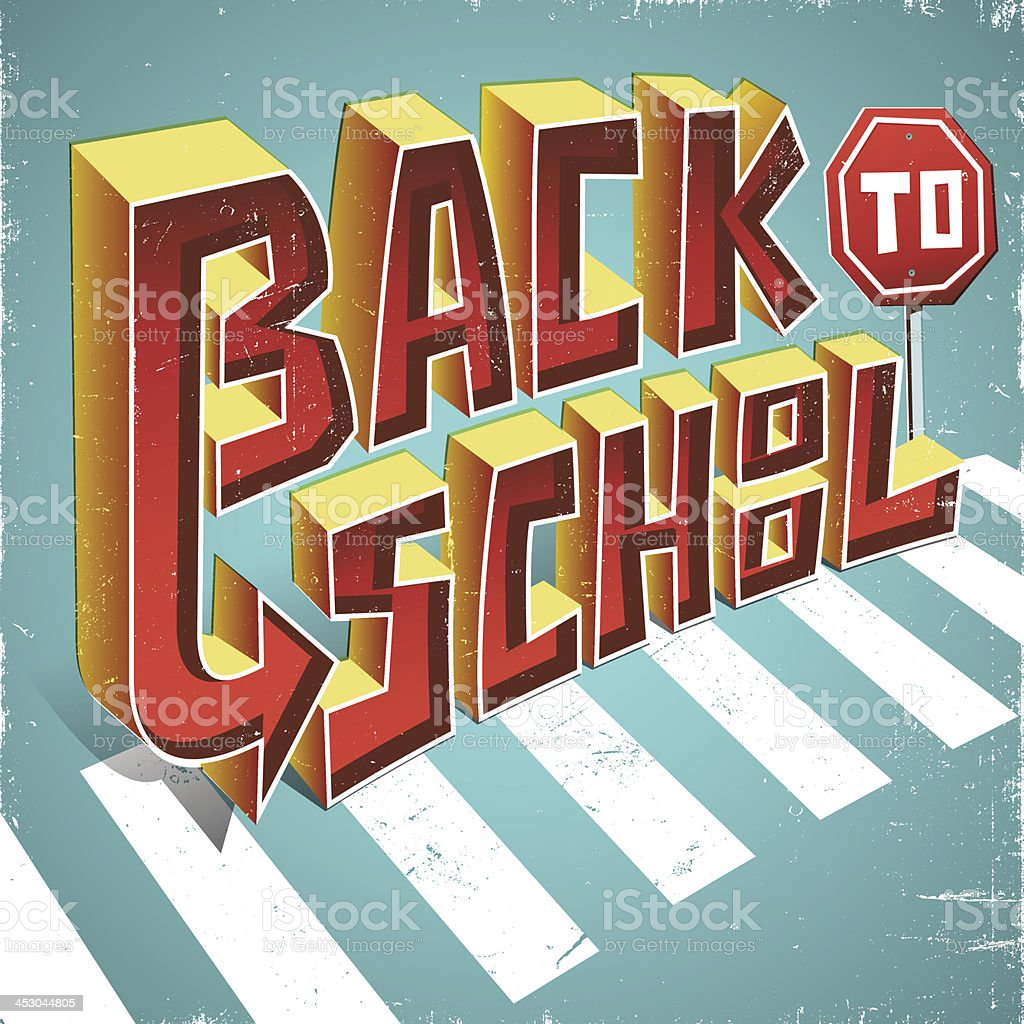 Back to School Text royalty-free stock vector art