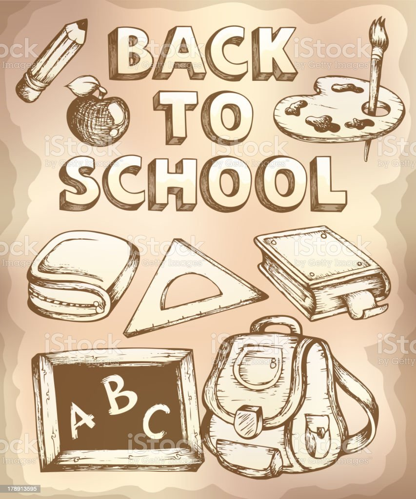 Back to school topic 4 royalty-free stock vector art