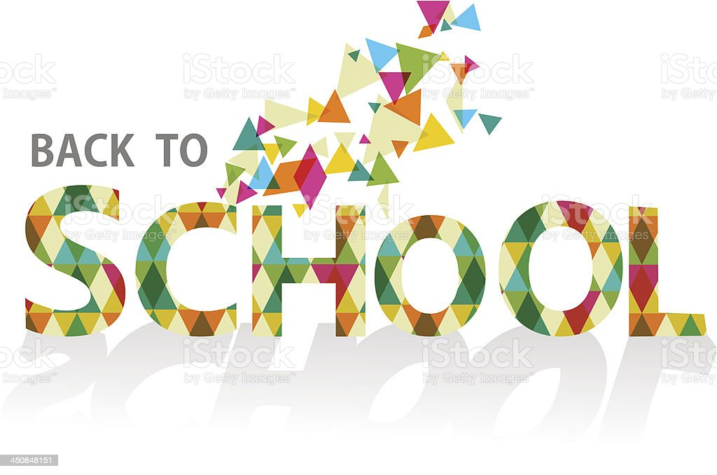 Back to school triangle sign isolated royalty-free stock vector art