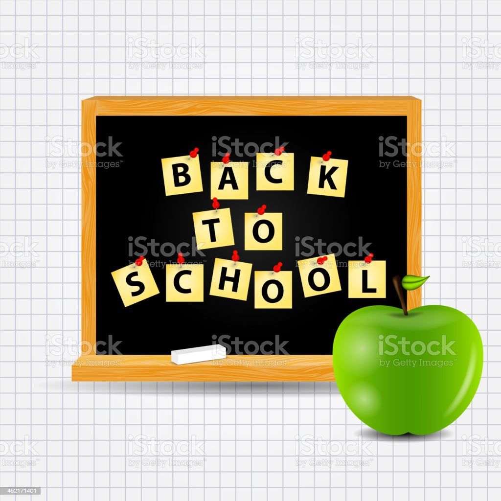 Back to School vector Background royalty-free stock vector art