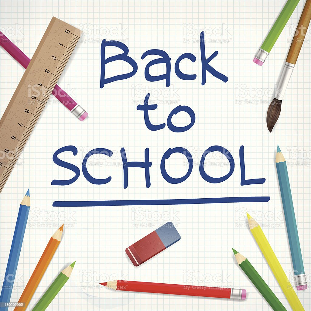 back to school vector illustration royalty-free stock vector art