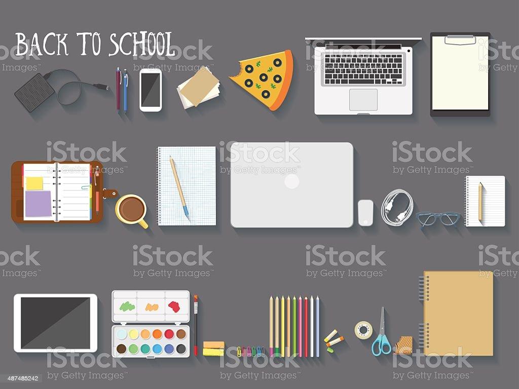 Back to school vector illustration vector art illustration