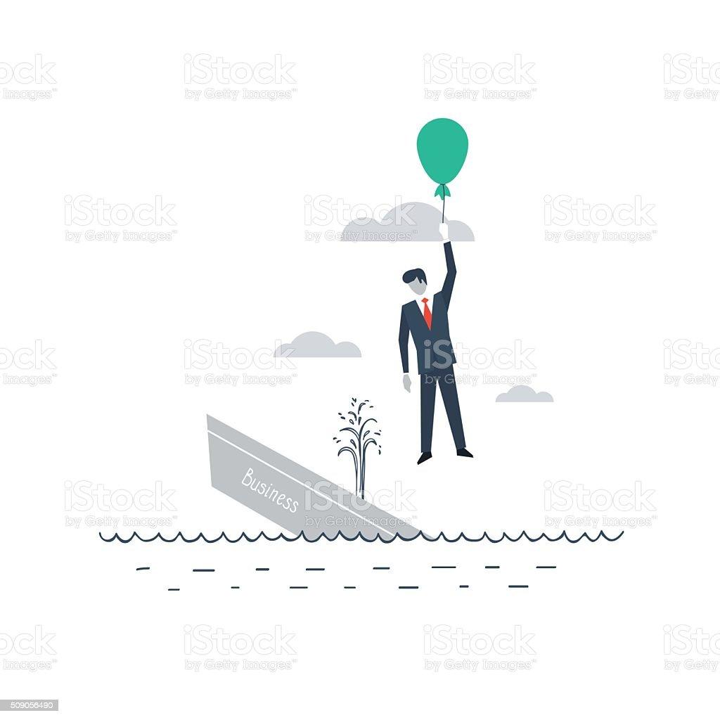 Back up plan vector art illustration