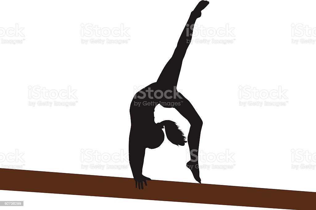 Back Walkover royalty-free stock vector art