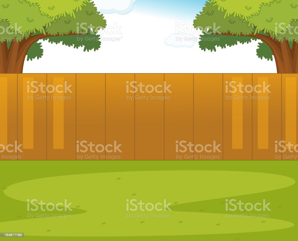 Back yard royalty-free stock vector art