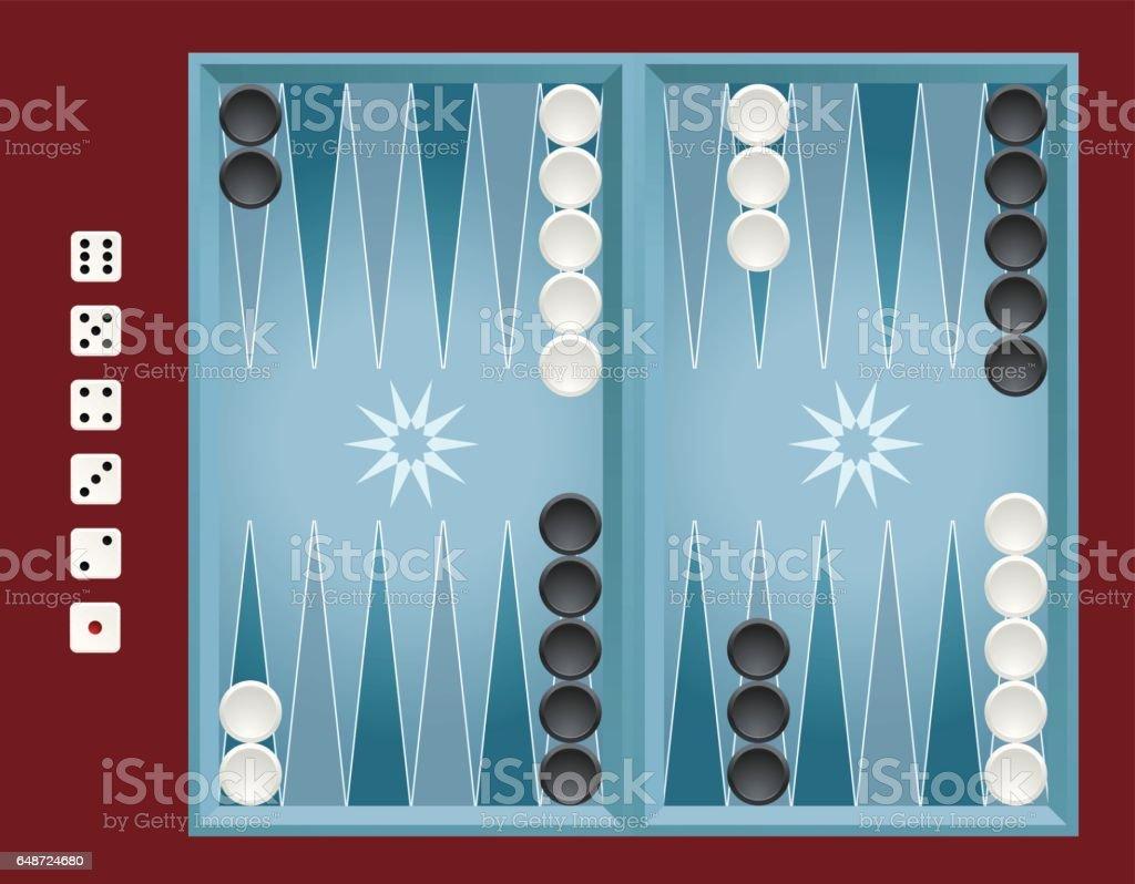 Backgammon vector art illustration