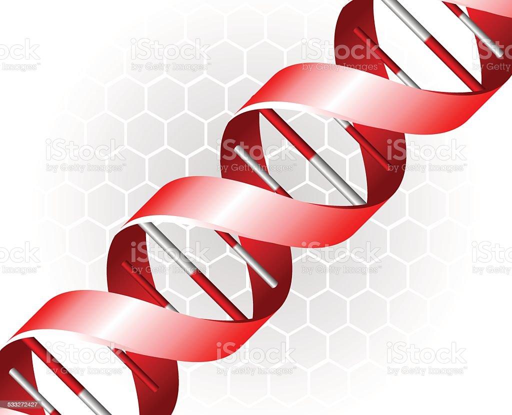 DNA backgound vector art illustration